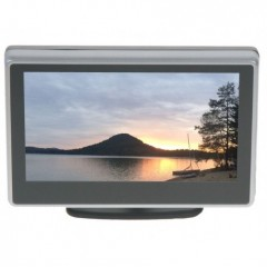 x LCD monitor 4' černo-stříbrný