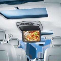 Stropní monitor 10'' šedý s DVD/SD/USB + výměnný kryt béžový/černý