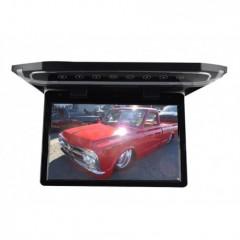 Stropní LCD monitor 12,1'' černý s HDMI/microSD/IR/FM, ultra tenký