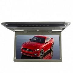 Stropní LCD monitor 15,6'' USB/SD/HDMI/IR/FM šedý neotočný