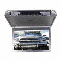 Stropní monitor 13,3'' šedo/stříbrný s SD/USB/IR/FM/HDMI