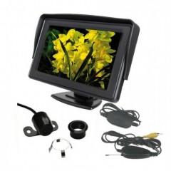 Parkovací systém bezdrátový 4 senzorový - LCD displej + kamera