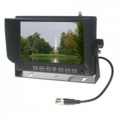 CAR CLEVER Monitor 7' se 2x4PIN vstup,čelním AV, GPS