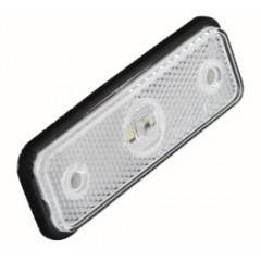 Přední obrysové světlo LED, bílý obdélník, homologace