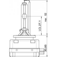 OSRAM 12V D1S 35W xenarc ORIGINAL (1ks)