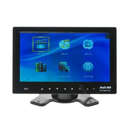 LCD monitor 7' na palubní desku s microSD/USB/FM modulátor/Bluetooth