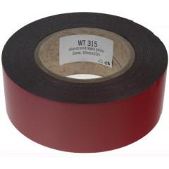 Oboustranná lepící páska černá, 50mmx10m