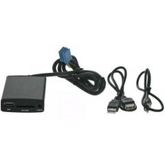 Connects2 - ovládání USB zařízení OEM rádiem Peugeot, Citroen/AUX vstup