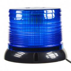 LED maják, 12-24V, modrý magnet, homologace
