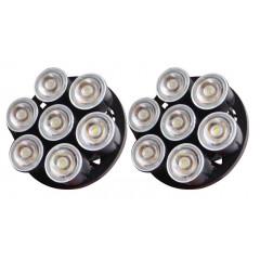 LED světla pro denní svícení, kulatá 80mm, ECE