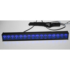 x LED světelná alej, 16x LED 1W, modrá 380mm