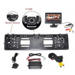 Parkovací systém s kamerou a 2 senzory v SPZ, 4,3palců monitor