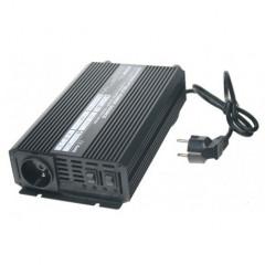 Autonabíječka 12V/10A + měnič 600W 12/230V, UPS