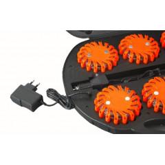 LED výstražné světlo 16LED, oranžové, set 6ks