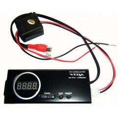 FM modulátor s nastavitelnou frekvencí a lcd