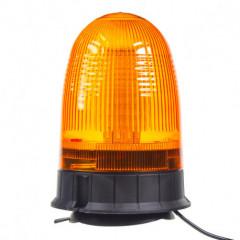 LED maják, 12-24V, oranžový magnet, 80x SMD5050, ECE R10