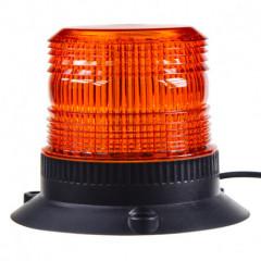 Zábleskový maják, 12-24V, oranžový magnet, ECE R10
