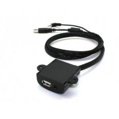USB+JACK 4pólový zásuvka univerzální