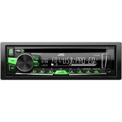 JVC autorádio s CD/MP3/USB/zezeleně nebo červeně podsvícená tlačítka/odním.panel