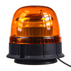 LED maják, 12-24V, 45xSMD2835 LED, oranžový, magnet, ECE R65