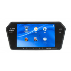 LCD monitor 7palců na zrcátko s microSD/USB/FM modulátor/Bluetooth