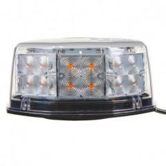 LED maják, 12-24V, oranžový, 32 LED, ECE R10, magnet