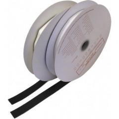Suchý zip samolepící - smyčky 0,2x25m, černý