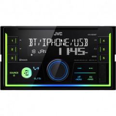 JVC 2DIN autorádio bez mechaniky/Bluetooth/USB/AUX/Multicolor