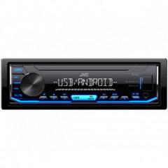 JVC autorádio bez mechaniky/USB/AUX/modré podsvícení/odnímatelný panel