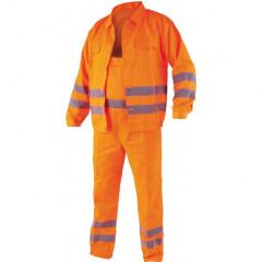 Pracovní oděv, reflexní kalhoty a blůza, CRESTON vel. XL