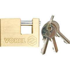 Zámek visací 65 mm čepový mosaz 3 klíče