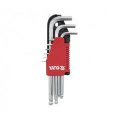 Sada klíčů imbus s kuličkou 9 ks extradelší