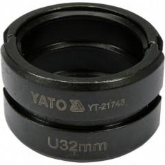 Náhradní čelisti k lisovacím kleštím YT-21735 typ U 32mm