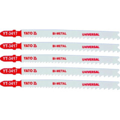 List pilový do přímočaré pily 130 mm UNI TPI10-5 5 ks Bi-Metal