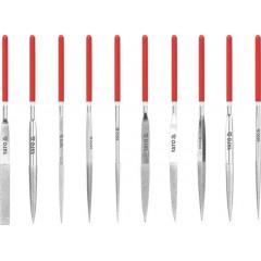 Sada pilníků jehlových diamantových 4 x 160 mm 10 ks 50 mm
