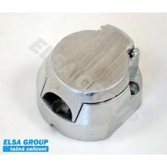 Zásuvka 7+1pin (DIN) snížená s odpojením mlh. světla, ALU