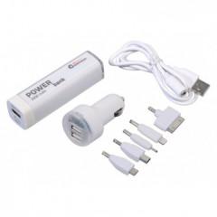 Nabíječka telefonu 12V 2,1A (iPhone 4/5/6, micro USB, Nokia) + POWER BANK 2600mA