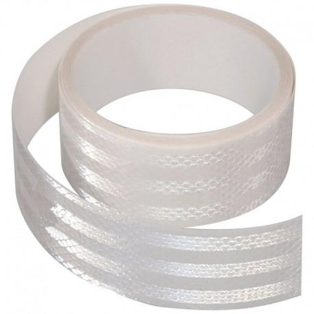 Samolepící páska reflexní 5m x 5cm bílá (role 5m)
