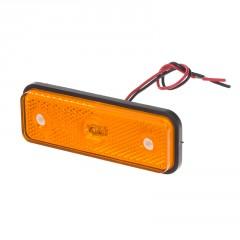 Boční obrysové světlo LED, oranžový obdélník, homologace