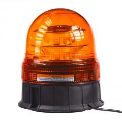 LED maják, 12-24V, 16x3W, oranžový magnet, ECE R65