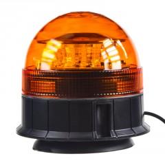 LED maják, 12-24V, 12x3W, oranžový magnet, ECE R65
