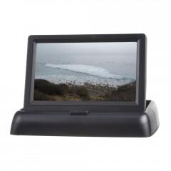 Výklopný monitor 4,3palců černý na palubní desku