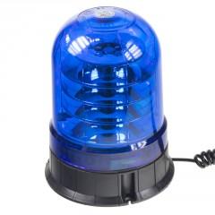 LED maják, 12-24V, 24x3W modrý, magnet, ECE R65
