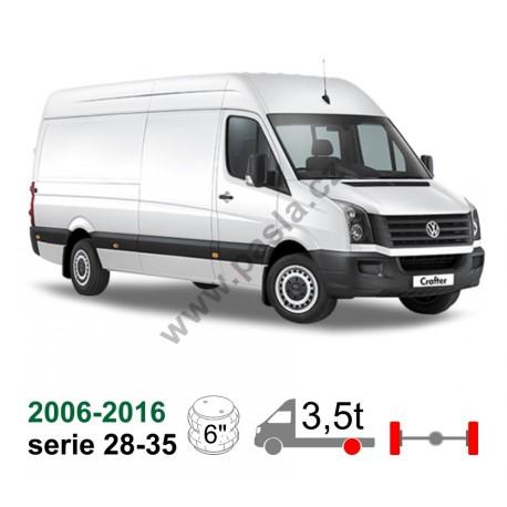 Vzduchové pérování VW Crafter, 06-16, dlouhý převis 1,5m+ ( serie 309, 311, 313, 315, 318, 324)