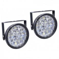 Světla denního svícení kulatá 18 LED/12V