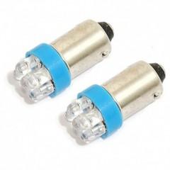 Žárovka 6LED 12V  Ba9s  modrá  2ks