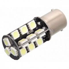 Žárovka 27 SMD LED 12V Ba15S s rezistorem CAN-BUS ready bílá